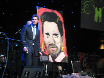 Movie Star Eric Bana speed painted live and signed for charity