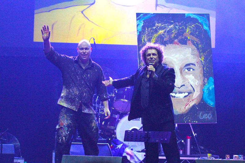 Brad with iconic singer Leo Sayer