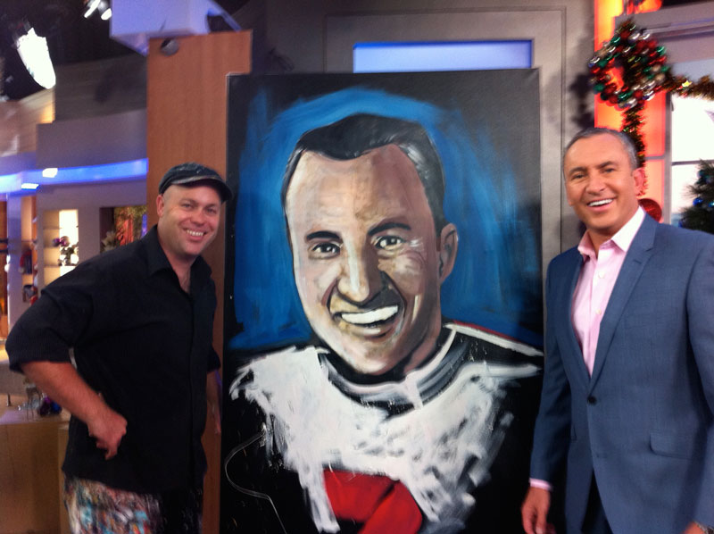 Brad with Mark Beretta on the TV show Sunrise